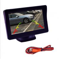 Blind Zone Touchscreen Car Monitor , 4.3 Car Rearview Lcd Monitor 480x272 Resolution Manufactures