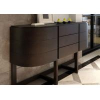 China Contemporary Black Solid Wood Oak Console Table With Drawers Asian Style on sale
