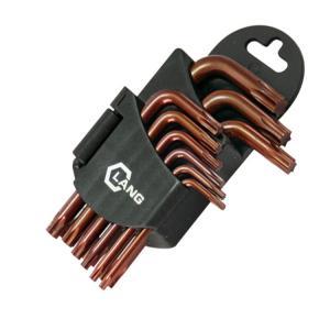 Quality 9pcs High quality S2 brown oxide torx key set for sale