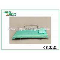 Light Weight Anti Static Blue Disposable Bed Sheets 30gsm to 40gsm , 60x180cm Manufactures