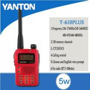 128CH Red Facecover T-610PLUS Ham Radio Manufactures