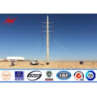 China Steel Galvanzied Electric Power Pole for 345KV Transmission Line on sale