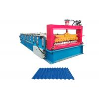 China Galvanized Steel Corrugated Sheet Roll Forming Machine Working Speed 10-15 M/Min on sale