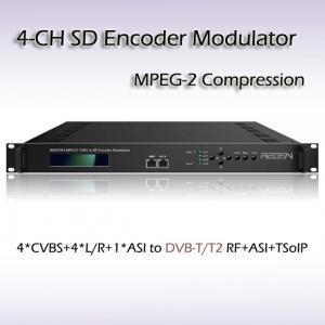 REM7204 Four-Channel CVBS TO DVB-T MPEG-2 SD Encoding Modulator Manufactures