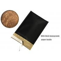 Honeycomb Paper Padded Mailers Black Self Seal Padded Mailing Envelopes for sale
