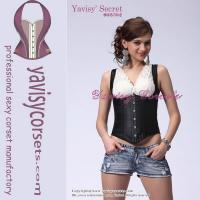 Suspenders sexy shoulders wholesale corset tops Manufactures