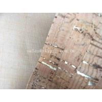 Decorative A Grade Rubber Sheet Roll , Upholstery Cork Leather Fabric for Bag Shoe Manufactures