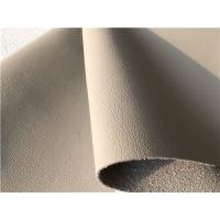 PU Coating Leather Car Upholstery Fabric Beige Auto Upholstery Fabric Manufactures