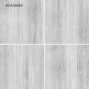 China 600*600*10MM Gray Glazed Porcelain Tile For Kitchen Floor Corridor Floor  Cement Straight Line Pattern on sale