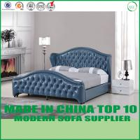China European Modern Genuine Leather King Size Home Bed with Tufted on sale