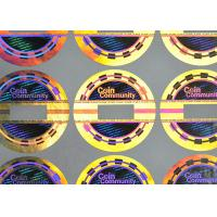 China Demetalized security coin 3d hologram sticker with VOID effect on sale