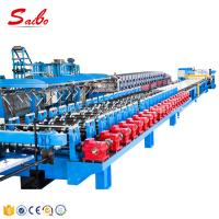 China Galvanized Steel Corrugated Roof Panel Roll Forming Machine Gear Box Hydraulic Decoiler on sale