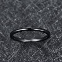 2019 Nuncad 2mm Width Tungsten Carbide Ring Wedding Band Promise Anel Masculino Black Fully Polished Tungsten Steel Ring Manufactures