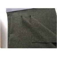 China Army Green Micro Twill Fabric Military Overcoats 50 Wool Lightweight on sale