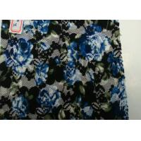 Flower Shape Digital Printed Fabric At Home , Spandex and Nylon Content Manufactures