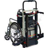 Docking Car Handicapped Electric Stair Climbing Wheelchair In Black Color Manufactures