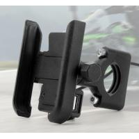 Aluminium Alloy Usb Fast Charging Motorcycle Phone Bracket Motorcycle Phone Holder With Charger Manufactures