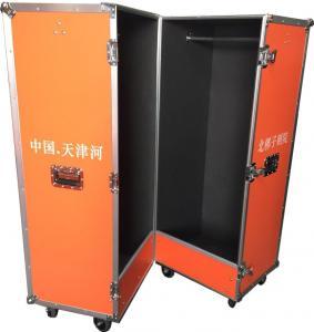 Customized Bright Color Closet Case , Folding Aluminium Flight Case For Clothes Manufactures