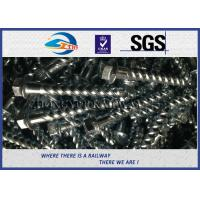 China Steel 35# Spiral Spike nails HDG coating  For Rail Fastening System on sale