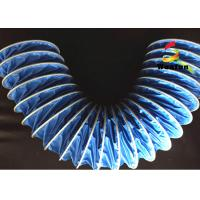 Blue PVC High Temperature Flexible Duct , 75mm Insulated HVAC Duct Manufactures