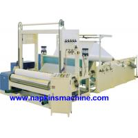 Full Automatic Paper Roll Slitting Rewinding Machine For Napkin / Facial Tissue Manufactures