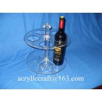 Perspex Wine Holder / Promotion Acrylic Wine Rack / Lucite Wine Bottle Display Stand Manufactures
