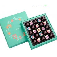Handmade Afternoon Tea / Moon Cake Gift Chocolate Packaging Box , Hot stamping golden Chocolate Gift Manufactures