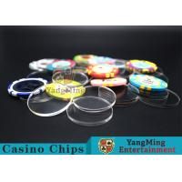 Acrylic Plastic Separate Customized Poker Chips For Gambling Dedicated Using Manufactures