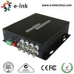 Analog Video CCTV Fiber Optic Transmitter And Receiver 20km Transmission Distance Manufactures