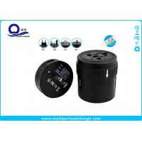 Round 220v To 110v Input USB Travel Adapter UK US EU AUS Plug White / Black Color Manufactures
