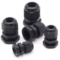 Water Proof Outdoor Cable Accessories , Black Cable Gland Connector Manufactures