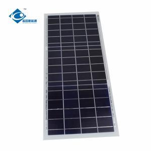 China 6V 15W Poly Silicon Solar Panel for Mini Solar Power System ZW-15W-6V transparent glass solar panel on sale