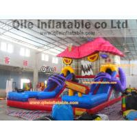 Quality large inflatable Terrorist house slide inflatable Disneyland castle inflatable slide for Halloween for sale
