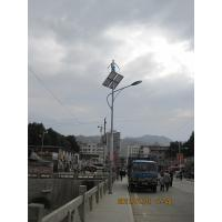 China 6m Solar Wind hybrid street light lamp with 120W Solar panel 120A / H for bus station  on sale