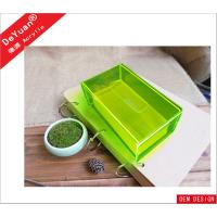Quality Fluorescence Green Car Acrylic Holder Stand , Acrylic Tissue Box 5MM for sale