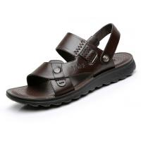 Rubber Bottom Hole Flat Leather Sandals Roman Casual Handcrafted Leather Sandals Manufactures