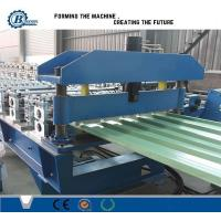 Building Roof Panel Roll Forming Machine With Hydraulic Cutting Type