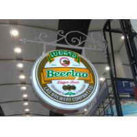 Aluminum Frame Vacuum Forming Light Box / Pub Beer Light Box Waterproof With Hanging Sign Iron Bracket Manufactures