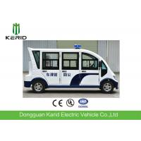 8 Seats Enclosed Passenger Cabin Electric Sightseeing Car With Horn Speaker For City Walking Street Manufactures