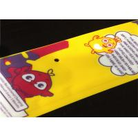 China Printed Laminated Poly Bags 3 Side Seal Sachet With Header / Tear Notch on sale