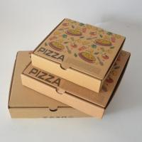 Brown Kraft Paper Ripple Pizza boxer Burger boxes Custom Logo Printed in your size packaging boxes takeaway Manufactures