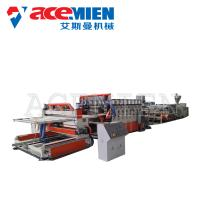 PVC Foam Plate Making Machine 25m*5m*3m With Forming Table Tracking Cutter Manufactures