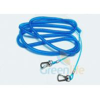 Buy cheap Stainless Steel Wire Fishing Rod Lanyard Safety Blue PU Coated Rod Rope 15M from wholesalers