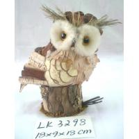 Handmade owl,SIZE;18×9×18CM,Natural material holiday decoration and home decoration,Delivery is prompt. Manufactures