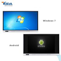 65'' Lcd Display Touch Screen Dual System Wall Mount Interactive Whiteboard 350cd/m2 Manufactures