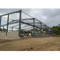 China SGS Light Steel Structure Building With Sandwich Panel / Prefab Metal Buildings on sale