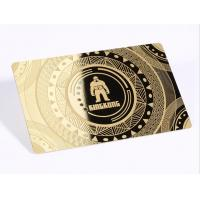 13.56mhz Metal Business Cards / Stainless Steel CR80 Plated Gold Member Card Manufactures