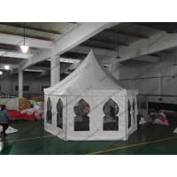Aluminum Waterproof Pagoda Party Tent , High Peak Tents With Muslim Windows Manufactures