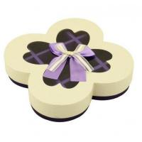 Texture Customized 250G Peral Paper Gift Chocolate Packaging Boxes , Wedding Favor Boxes With Ribbons Manufactures