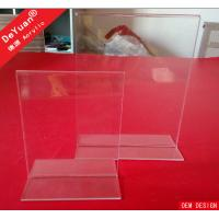 Double Sides Clear Acrylic Display Stands / A4 Acrylic Table Tent Display Manufactures